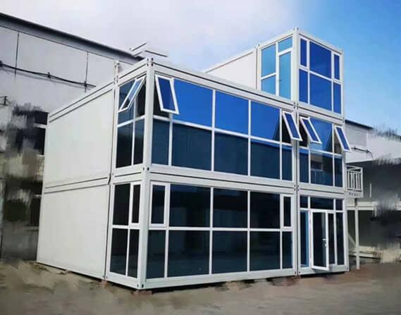 玻璃幕墙窗户为上悬式忠旺断桥铝窗图
