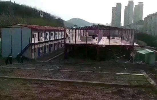 山南贡嘎县工地活动板房图片案例