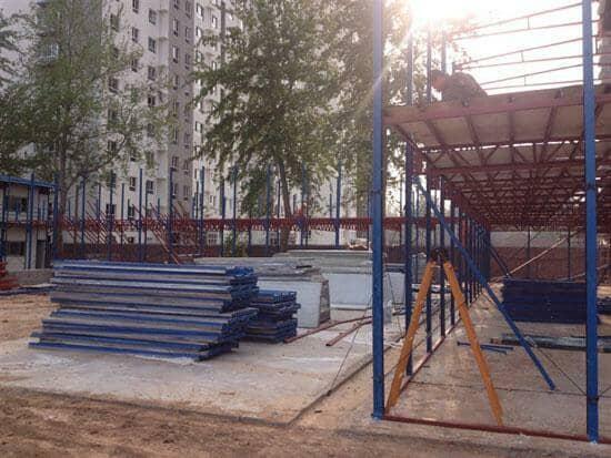 拆装式活动板房安装地板图