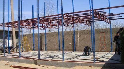 雅致活动房钢骨架每平米的承载力为150公斤