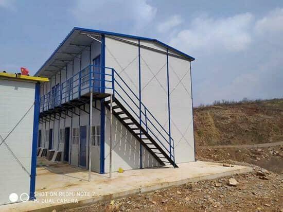 安多二层彩钢活动房侧面图