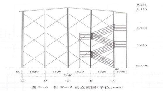 二层活动房侧面图