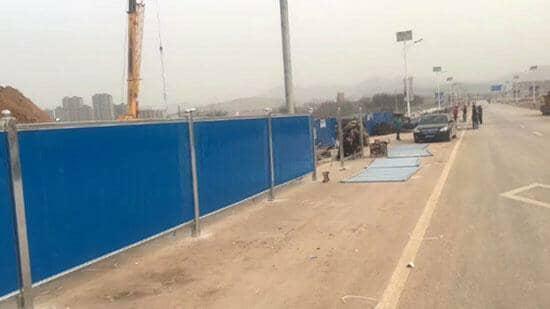 拉萨当雄县市政地铁彩钢围挡图片案例