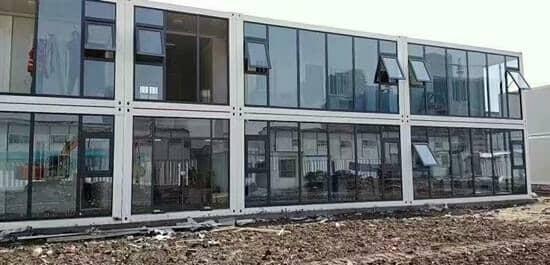 日喀则玻璃幕墙式集装箱活动房