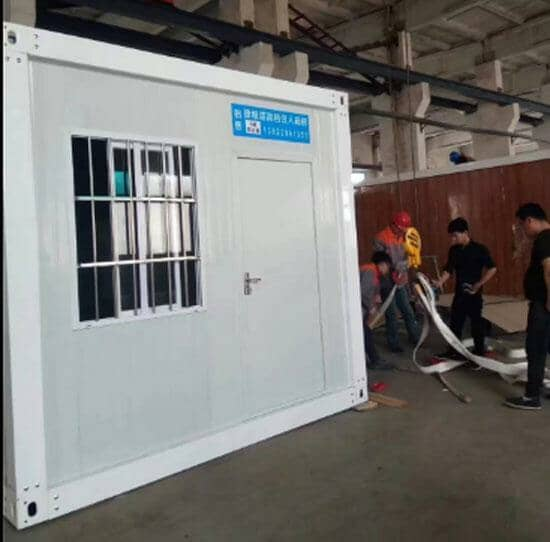 拉萨林周县打包式集装箱活动房图片案例