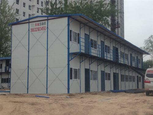 二层工地活动房山墙图片