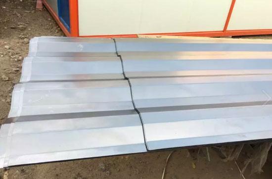 瓦楞波浪型钢板图