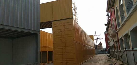 集装箱是海上的房屋