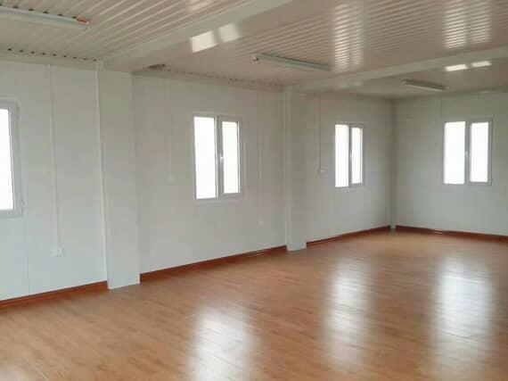 3个标准箱房组合而成的箱房会议室效果图