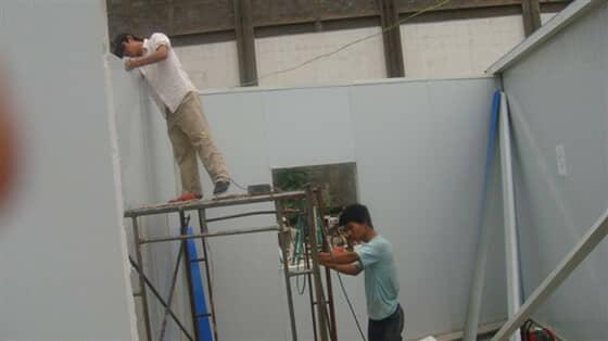 安装墙面彩钢板效果图