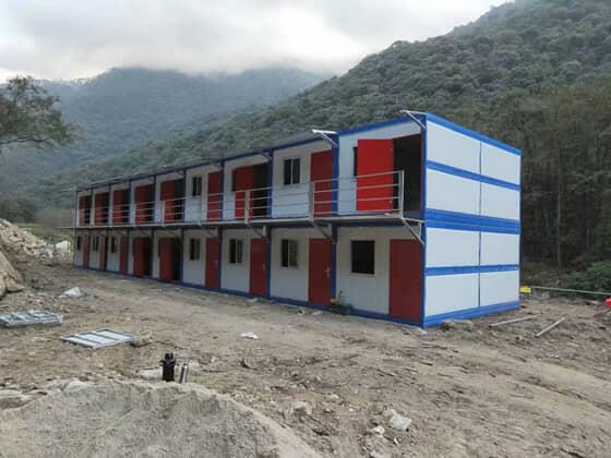 二层折叠式集装箱活动房