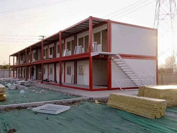 铁红色3米乘6米箱式活动房全部采用净化岩棉板搭建