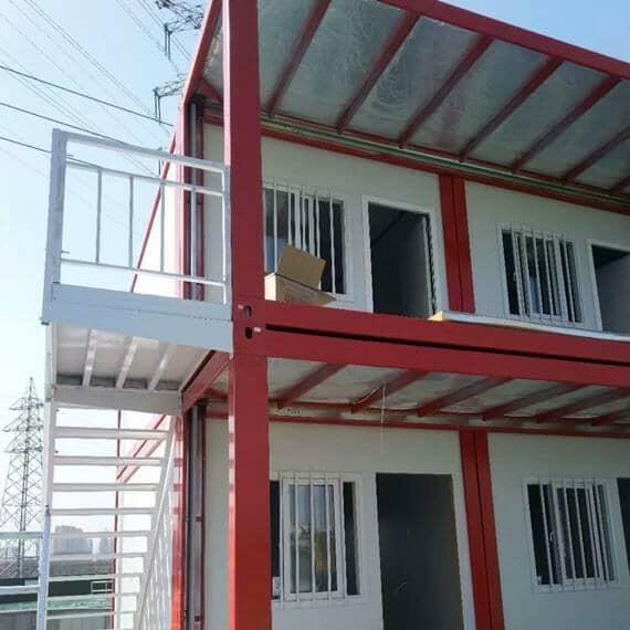 二层封闭式走廊打包式集装箱活动房
