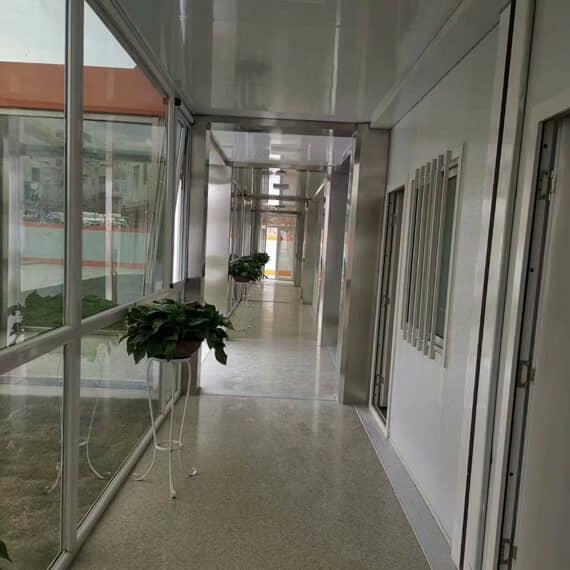 打包式箱房玻璃走廊效果