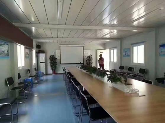 打包式集装箱活动房会议室室内效果