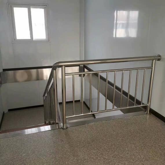 转弯式楼梯护栏效果