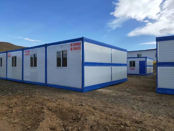 折叠集装箱活动房3米面背面图