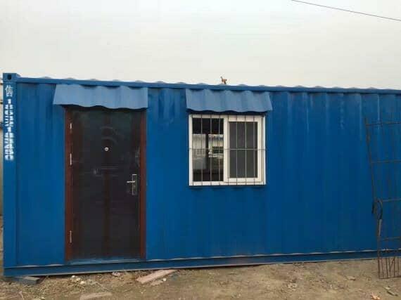 蓝色二手集装箱活动房