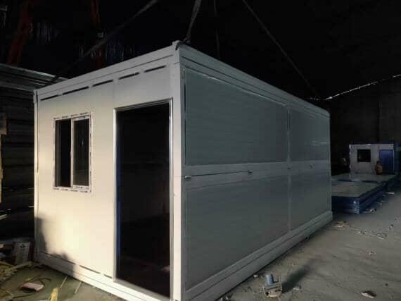 白色折叠式集装箱活动房