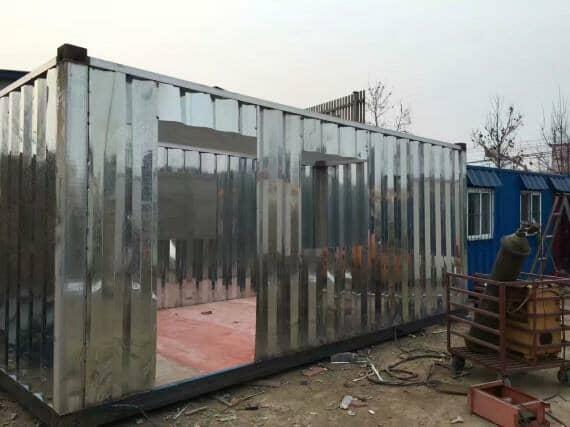 集装箱活动房焊接制作现场