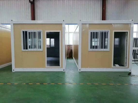 米黄色打包式集装箱活动房